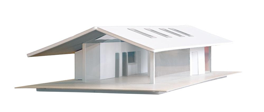 pr architectenburo - Manquette bezoekerscentrum Brederode